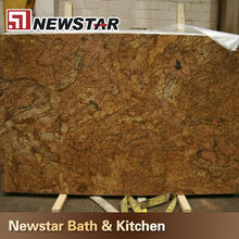 yellow polish copper canyon granite slab