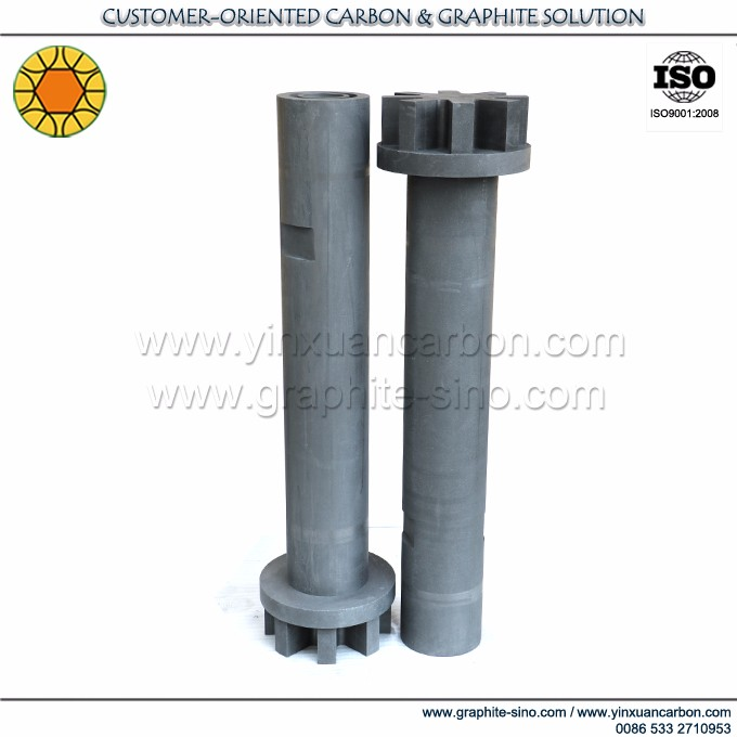 Long Service Life Graphite Blender Rotor for Molten Aluminum Degassing