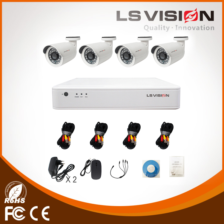 LS VISION Full HD 4Ch 720P Security Camera System AHD CCTV Recording System DVR Kit