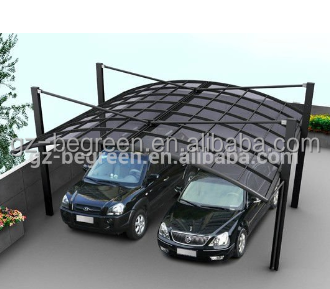 Freesky Professional Carport Manufacturer, High Grade Double Elegant Aluminium/Solid PC Carport/Car Shed Design