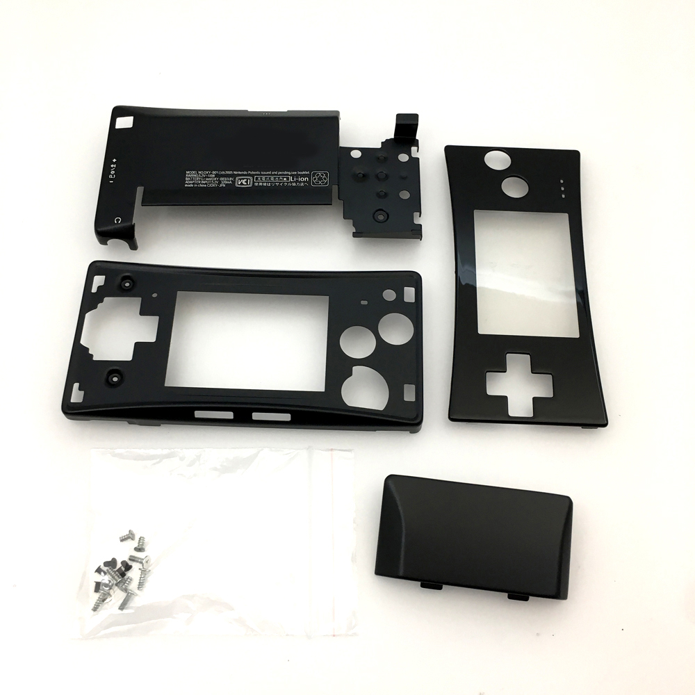 Wholesale Black Chrome Plating Full Housing Shell Case Front Bottom Case Cover for Nintendo Gameboy Micro GBM