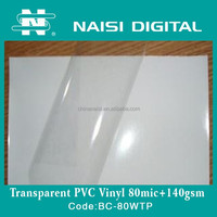 ultra thin transparent PVC self adhesive vinyl