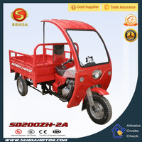 Enduro Cargo tricycle, three wheel motorcycle with simple cabin SD200ZH-2A