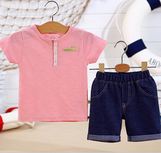 d73133h 2016 korean fashion kids clothes shorts sets wholesale baby two pieces clothes sets baby boys clothes