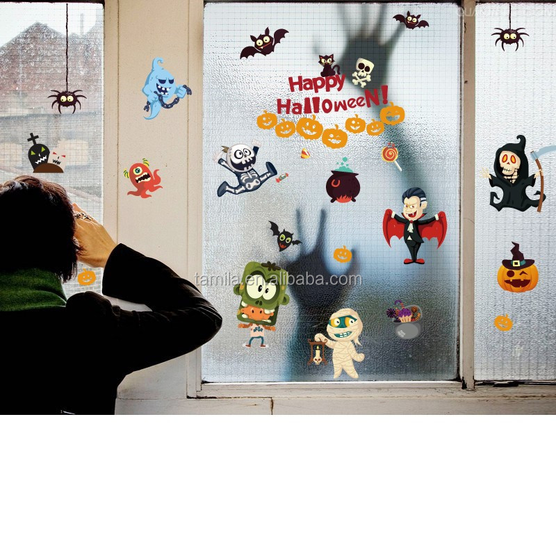 New Arrival Cartoon Halloween wall sticker