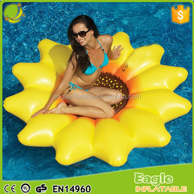 "Water Sports 72"" Giant Inflatable Sunflower Float Island Swimming Pool Raft Float"