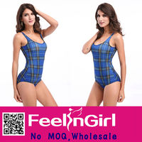 Attractive Wholesale Blue Grid Sex Girl Xxl Young Girls In Swimsuits