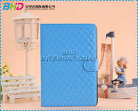 Lattice Diamond Pattern Leather Folio Stand Case For iPad Mini