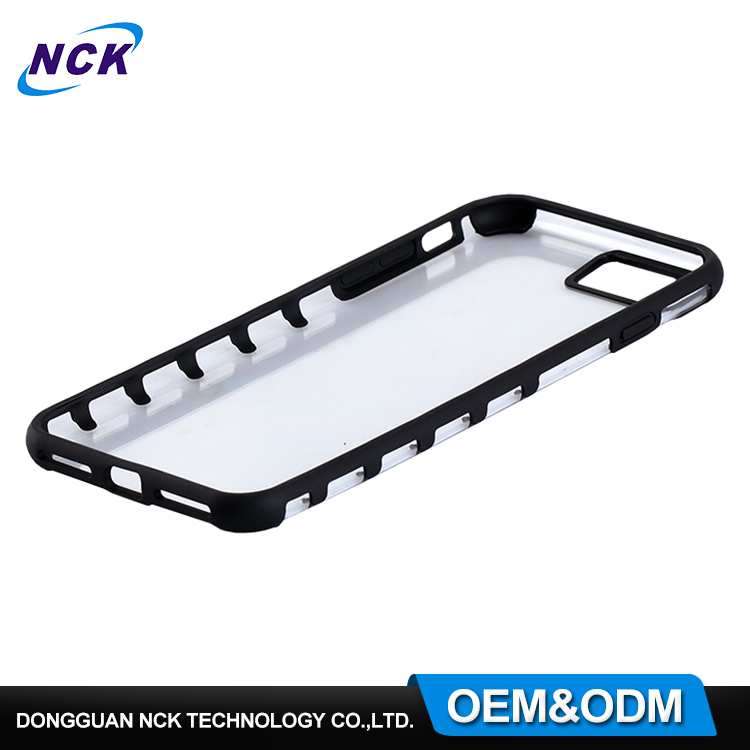 Best selling MOQ=100pcs free sample pc tpu hybrid phone case for iphone 7 7plus
