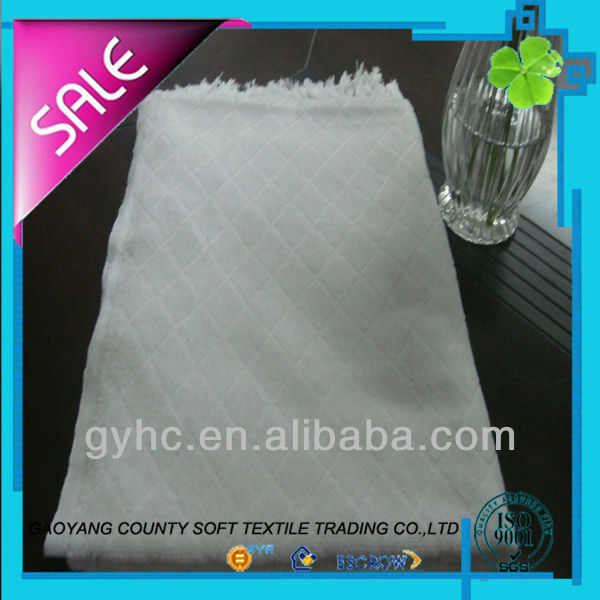 customized 100% polyester jacquard no sewing ihram for hajj towel