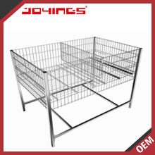 Hot Selling Mesh Box Wire Cage Metal Storage Basket Bin Storage Container