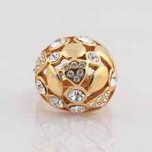Buy directly from factory exotic costume jewelry domed style sparkling multi sized round cut crystal fashion fake gold rings