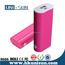 Shenzhen Factories Supplier lithium 5600mAh Hot sell mini perfume portable power bank charger