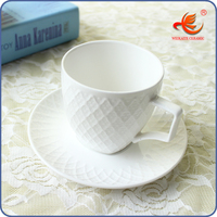 WKT001W China factory ceramic espresso cup and plate