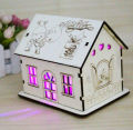laser cut wooden saving pot Home decoration wooden house