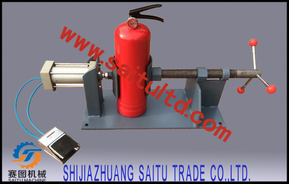 SAITU Speedy Fill Pro Dry powder filling machine/extinguisher vise clamper/extinguisher valve screwing machine
