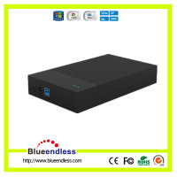 2.5 & 3.5 Inch HDD External Enclosure Transfer Rate 5Gbps USB 3.0 to SATA Screwless Plastic Hard Drive Case Support UASP
