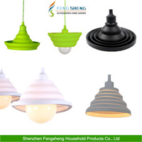 Colorful and Folding Silicone Lamp Shades/ Lamp Covers Modern