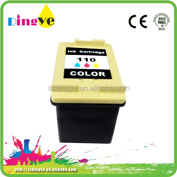 high quality tri-color ink cartridge refilled for HP 110 17ml / Page Yield 900