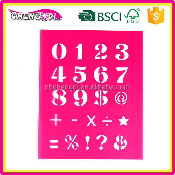 super style Best-selling popular kids stationery pp stencil