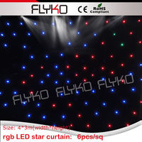 custom fire retardant curtain fabric LED light