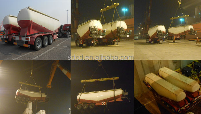 2.3axle V shape 28 ton bulk cement trailer -----bulk ship to Kenya