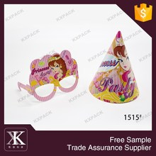 1515#Birthday Party Gift Paper Happy Cone Hat Birthday Cap And Glasses For Kids
