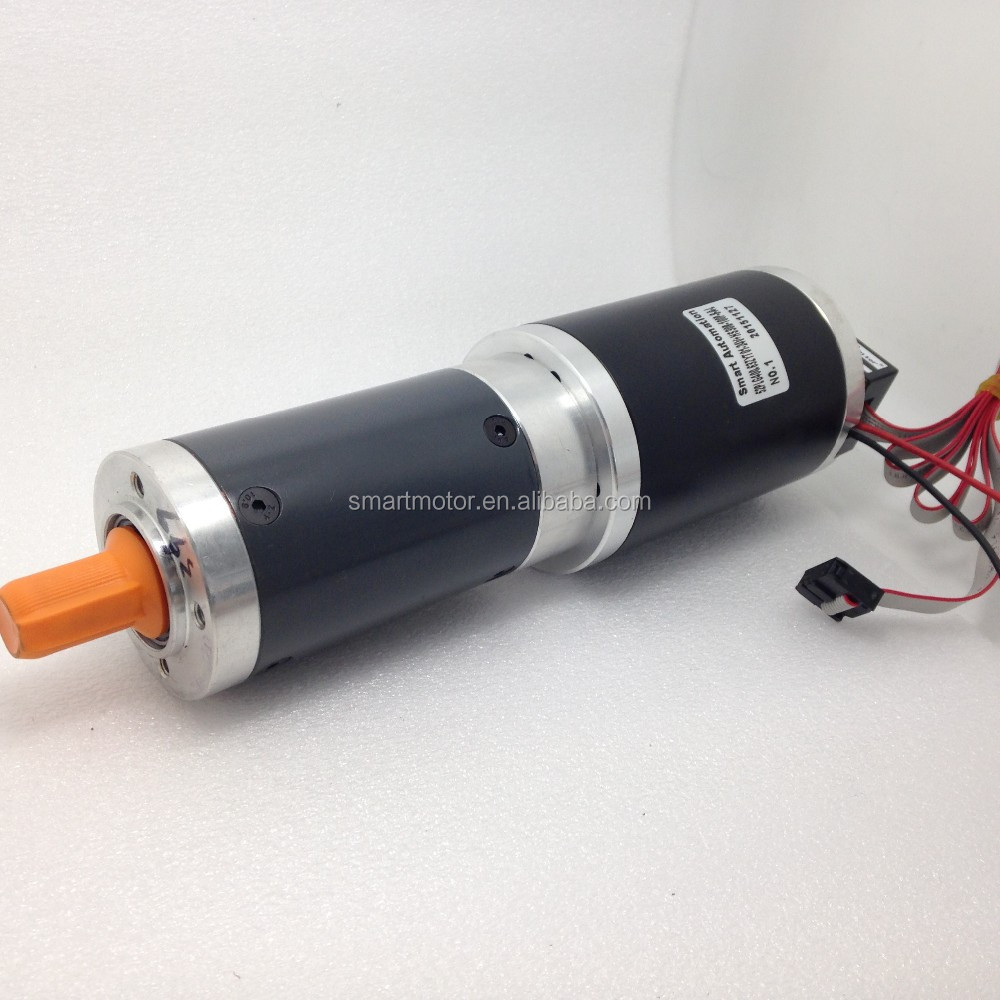 high torque Dia63mm 24 volt dc planetary gear motor, rated 24v 45Nm 16rpm