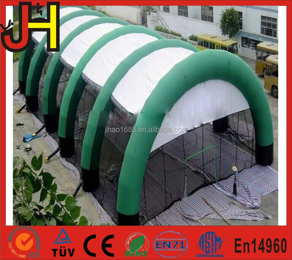 Customized Green and White Big Cheap Inflatable Paintball Tent