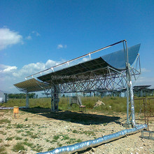 Solar thermal power plant energy concentrated parabolic trough collector