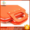 High Quality Hard Plastic PU hard laptop sided case with handle