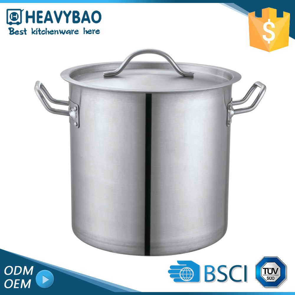 Heavybao Top Quality Kitchen Application Stainless Steel Commercial Large Flame Free Cooking Pot
