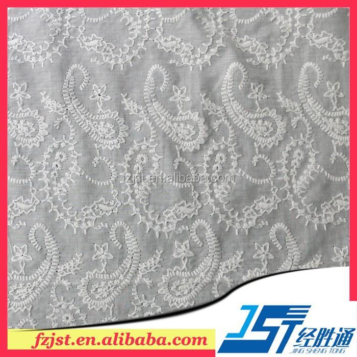Хлопковая ткань с вышивкой ришелье