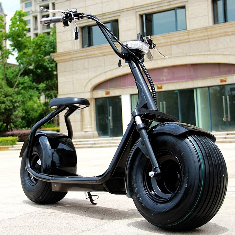 YIDE 2017 new fat tire 1000w 60v 12Ah 60km range Harley electric scooter adult electric motorcycle