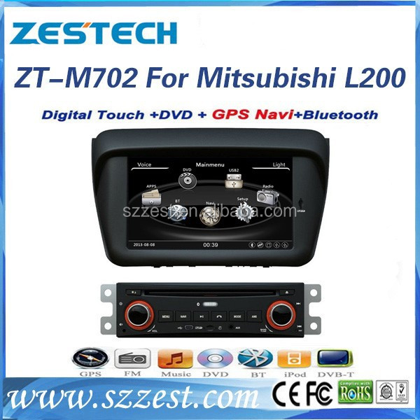 "ZESTECH 8"" auto radio dvd players cd with rear camera input for Mitsubishi Pajero Sport L200"