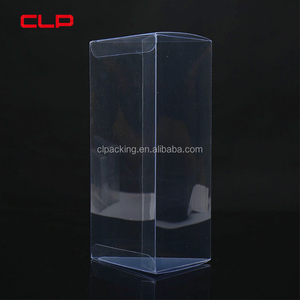 Customized Clear PVC Candy Packaging Box Plastic Folding Carton