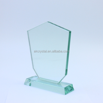 Shield shape jade awards from factory