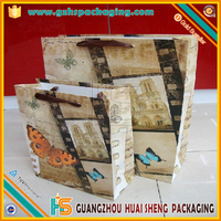 China Decorative Craft Paper Bag With Velcro Closure Lid for gift