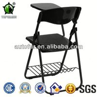 Colorful Plastic University Student Plastic Folding Chair with Writing Tablet