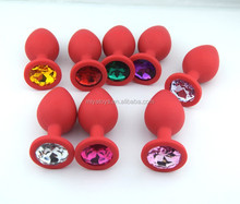 new arrival red silicone sex butt plug.www japan sex com