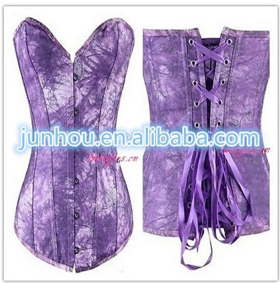 wholesale Junhou brand Waist Training Cincher Lace Up Bustier Body Shaper Overbust Corset Top