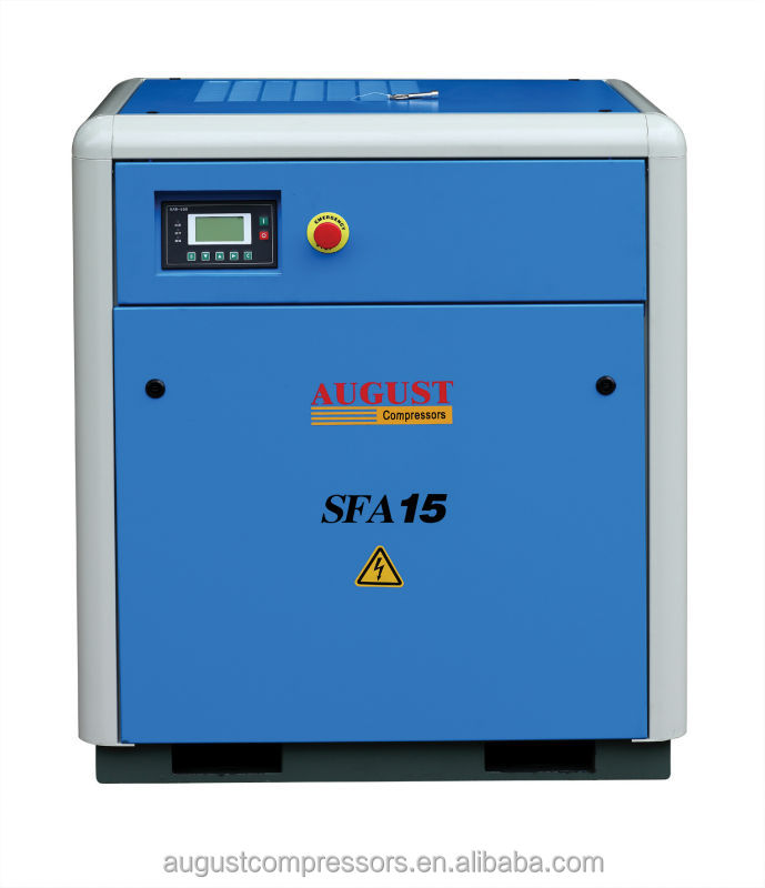 SFA15B 15KW/20HP 10 bar AUGUST stationary air cooled screw compressor auto compressor