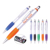 Classic 3 in 1 design custom plastic cleaner pen 3d printing advertising pen with logo for school supplies