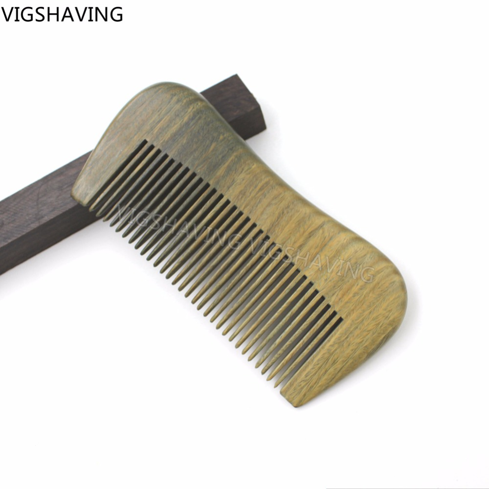 Natural Wood Green Sandalwood Beard Comb