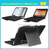 Professional OEM leather case China manufacture bluetooth keyboard case for galaxy 2014 p600 10.1""