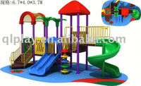 used outdoor gymnastic sports equipment,plastic playground slide LE.JD.047