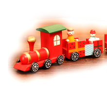 FQ brand wholesales custom best new Christmas mini train kids gift toys wooden christmas ornaments wholesale