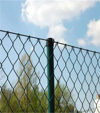 60*60mm Mesh Galvanized/ PVC coated chain link fence playground hook flower net
