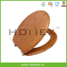 Bamboo Toilet Seat Cover Lid/Homex_FSC/BSCI Factory