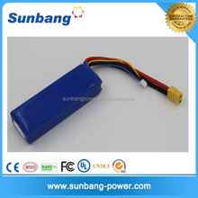 high quality Sunb 11.1V 3000MAH 25C rechargerable lipo battery for helicopter rc car boat